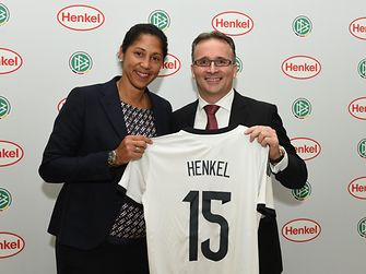 Henkel CFO Carsten Knobel and Steffi Jones