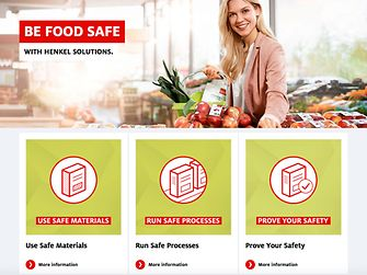 Henkel provides insights into food safe packaging in its webinars available on its food safety portal: henkel.com/foodsafety