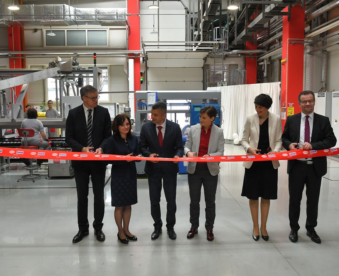 Henkel has opened a new Somat factory in Serbia