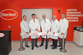 The Adhesives General Industry North America leadership team celebrates the official opening of the new OEM Application Center in Rocky Hill, CT