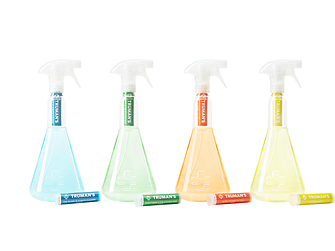 Truman's ships its products, a lineup of four simple hard surface spray cleaners, direct to its consumers.